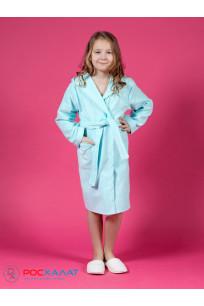 Детский махровый халат с капюшоном