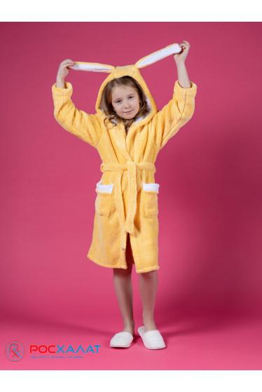 """Детский халат из велсофта """"Зайка"""""""