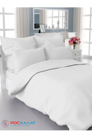 Комплект постельного белья Страйп-сатин 1х1, 3х3 отбеленный