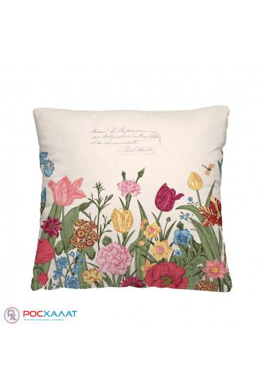 Декоративная подушка Цветочная клумба