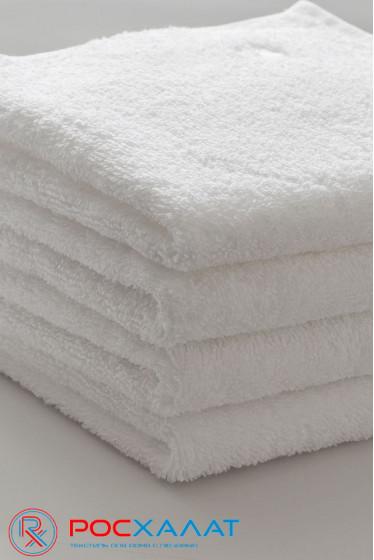 Отбеленное махровое полотенце, ОДИНАРНАЯ нить, Россия