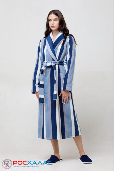 Женский махровый халат с шалькой