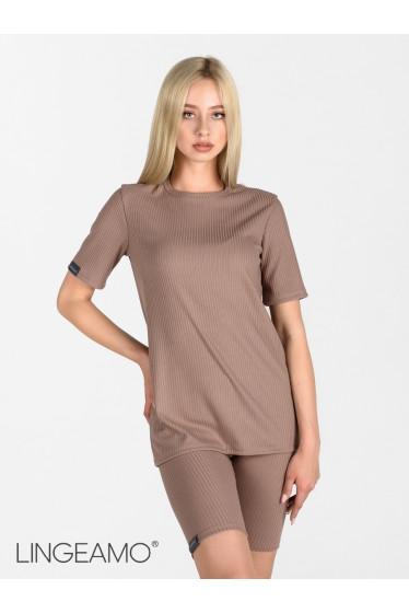 Трикотажная женская футболка