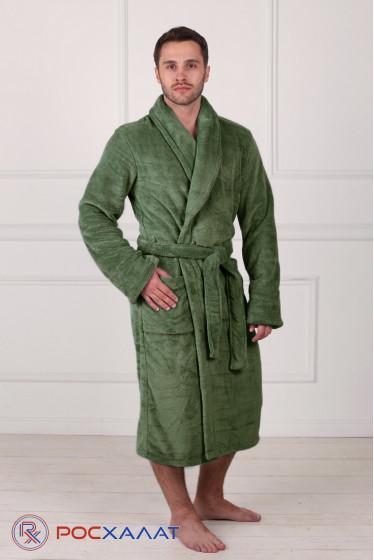 Мужской халат с шалькой из велсофта