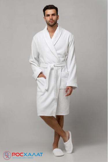 Мужской облегченный махровый халат с шалькой
