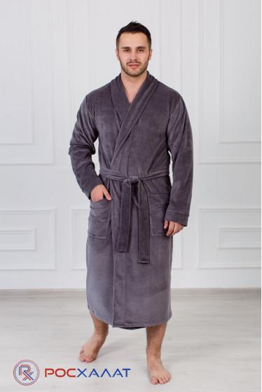 Мужской велюровый халат с шалькой