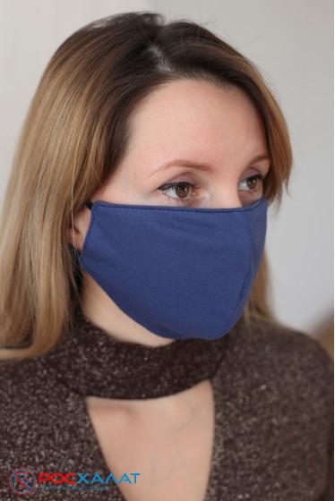 Трикотажная двухслойная маска на резинке