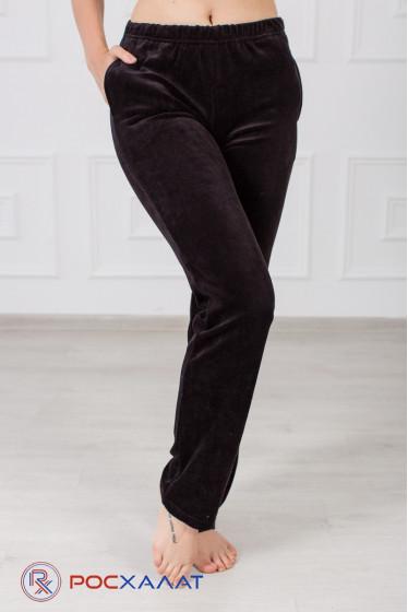 Велюровые женские брюки