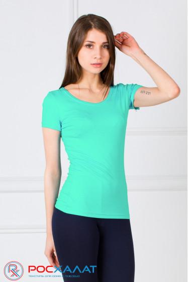 Женская однотонная футболка из вискозы