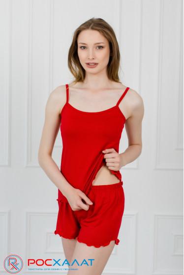 Пижама из вискозы, топ и шорты