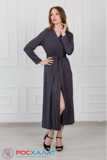 Удлиненный халат из вискозы