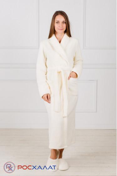 Женский халат с шалькой из велсофта