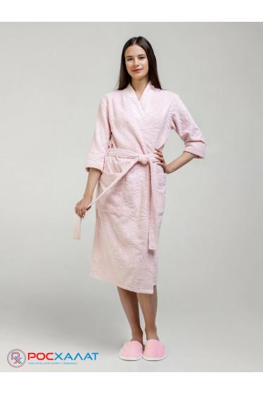 Женский бамбуковый махровый халат с планкой
